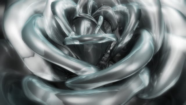 White glass rose video