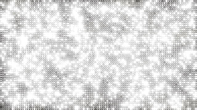 White glitter dots loopable background video