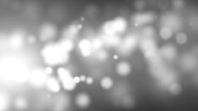 White Glittering Particles Abstract Background video