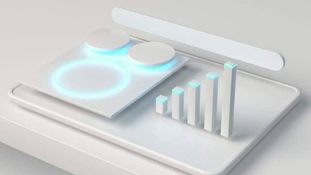 white graphic business graph 3d rendering motion video