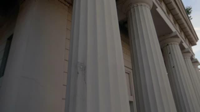 White Greek columns in Germany - Stock Video