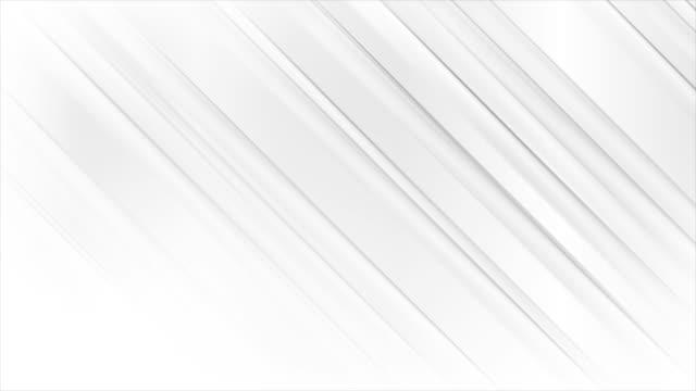 vídeos y material grabado en eventos de stock de blanco gris suave rayas abstractas de fondo de movimiento moderno - gris