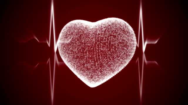 White Heart with Heartbeat Cardiogram. video