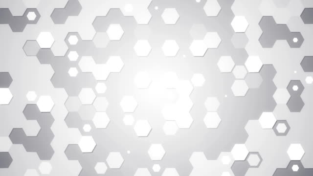 white hexagons loopable background video