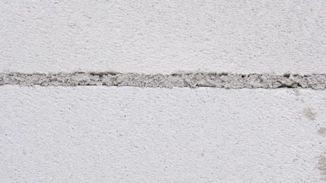 White hollow clay bricks wall
