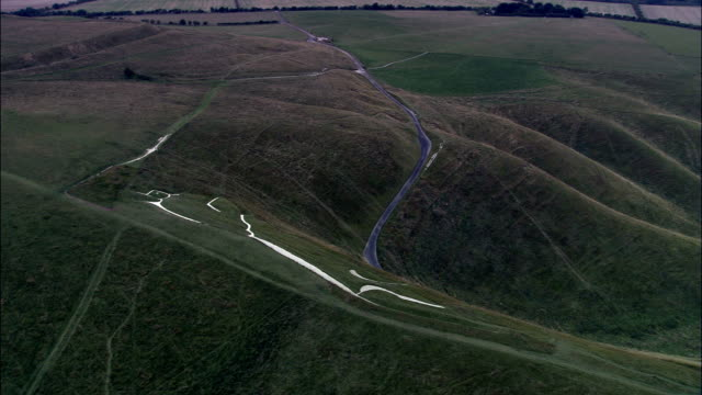 White Horse Of Uffington  - Aerial View - England, Oxfordshire, Vale of White Horse District, United Kingdom video
