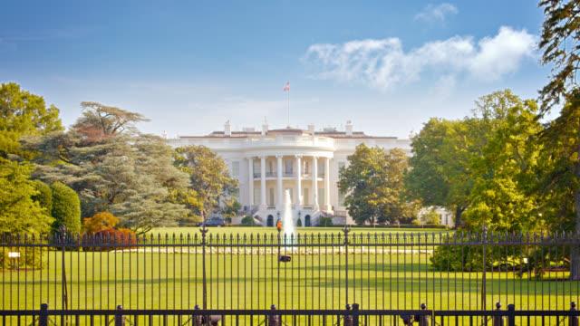 white house. fountain. park. - white house стоковые видео и кадры b-roll