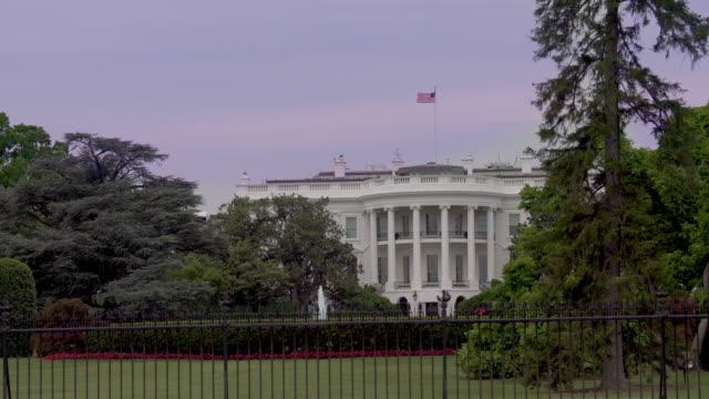 White House Lawn Southeast View Washington, DC in 4k/UHD video