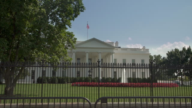 White House North Facade Lawn Washington, DC in 4k/UHD video