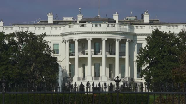 stockvideo's en b-roll-footage met witte huis zuid-gazon dicht van washington, dc - white house