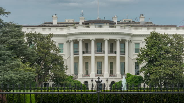 White House South Lawn Washington, DC - Zoom In - 4k/UHD video