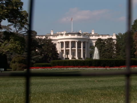 NTSC: White House - south side zoom in video