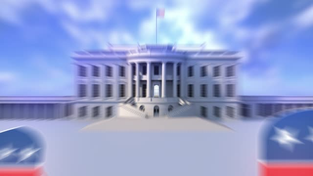 stockvideo's en b-roll-footage met white house transition.national symbolen van de usa transition + chroma sleutel - white house