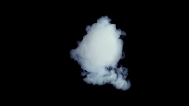vitt bläck explosion cloud i slow motion - intoning bildbanksvideor och videomaterial från bakom kulisserna