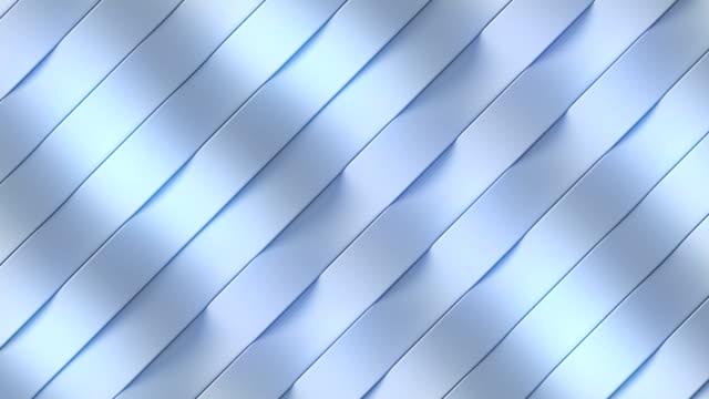 белая петляя текстура поверхности шаблон анимации. 3d рендеринг - abstract architecture стоковые видео и кадры b-roll