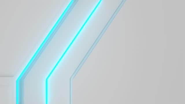 白色環繞未來派背景與藍色發光的線條和元素 - {{asset.href}} 個影片檔及 b 捲影像