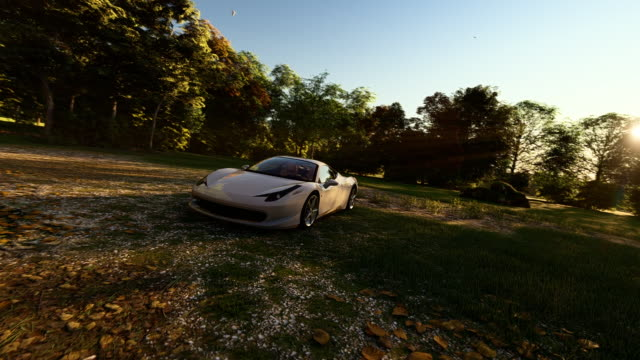 White Luxury Sports Car 3D High Quality Background Animation. You can use any advertising films and much more. sports car stock videos & royalty-free footage