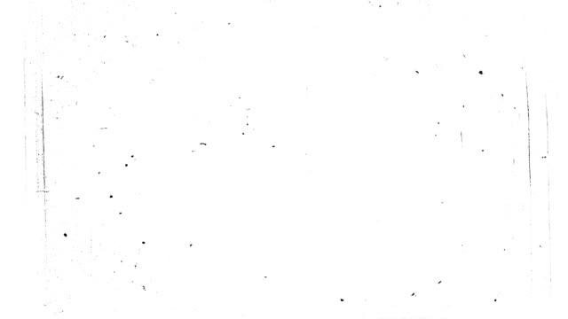 White old 8 mm film damage. HD, loop (vj). video