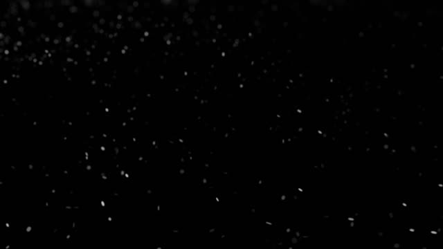 vídeos de stock e filmes b-roll de white particles in black background - cinza