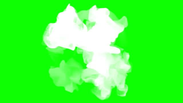 białe cząstki na zielonym ekranie - para aranżacja filmów i materiałów b-roll