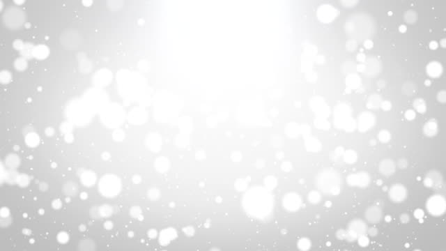White particles seamless loop 4K