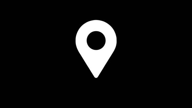 White Point icon animation on black background.