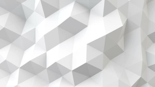 white polygonal geometric surface seamless loop video