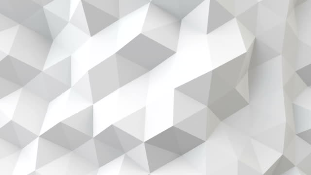 white polygonal geometric surface seamless loop - video