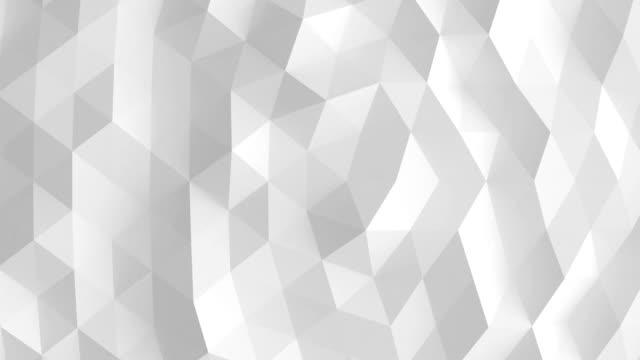 stockvideo's en b-roll-footage met witte veelhoekige oppervlakte lus - low poly modelleren