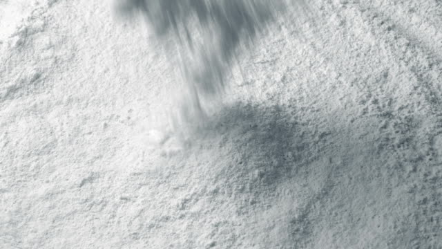 White Powder Pours Into Pile White powder pours into pile closeup shot painting art product stock videos & royalty-free footage