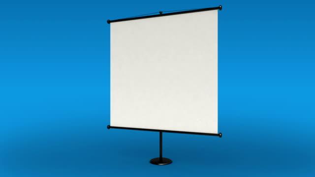 White presentation board. whiteboard. video