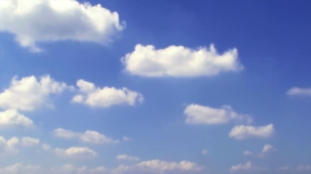 White rolling cloud in blue sky: background video