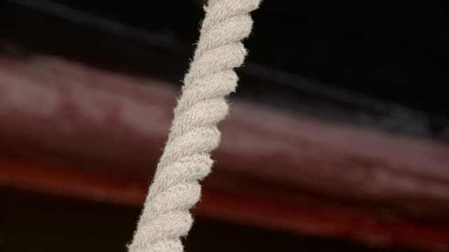 White rope from the anchor 4K FS700 Odyssey 7Q video