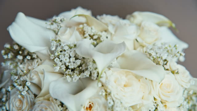 white roses in a beautiful bouquet video