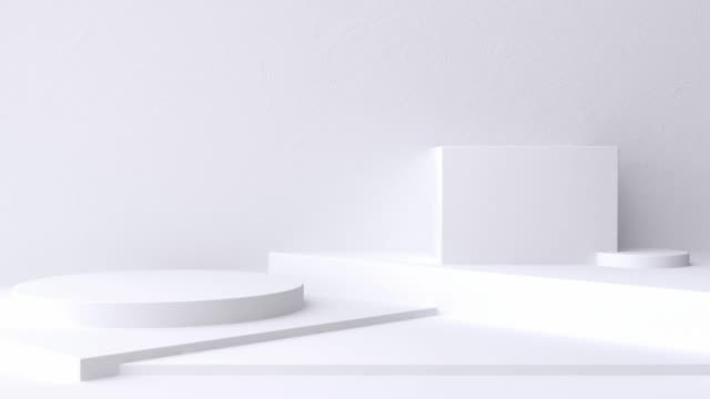 white scene wall floor minimal blank space geometric 3d rendering motion