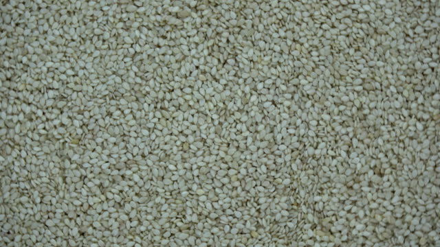 White sesame seeds rotating food background White sesame seeds rotating abstract food background sesame stock videos & royalty-free footage