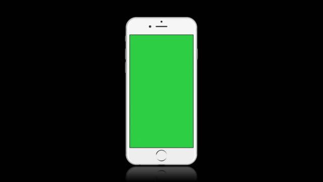 White Smartphone Mobile Screen Blank Illustration video