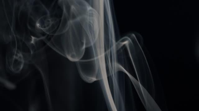 White Smoke isolated on Black video