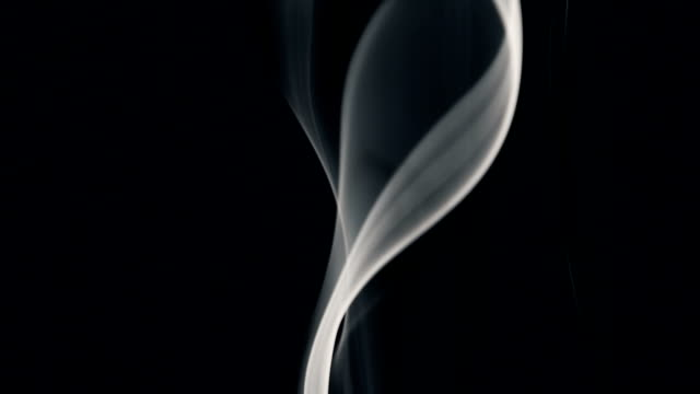 white smoke isolated on black - traccia video stock e b–roll