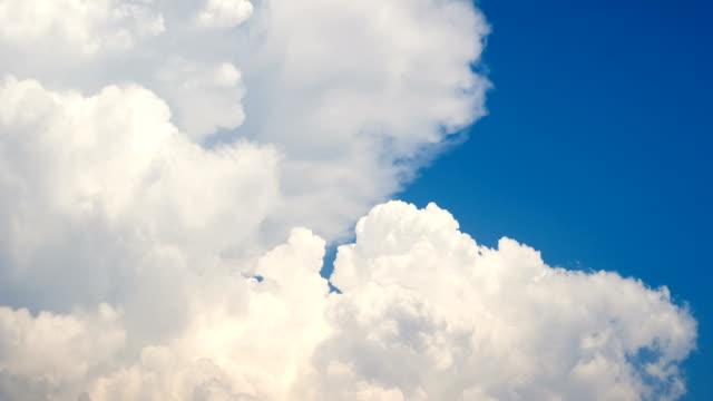 White smoke like Clouds timelapse 4K footage on a blue sky. video