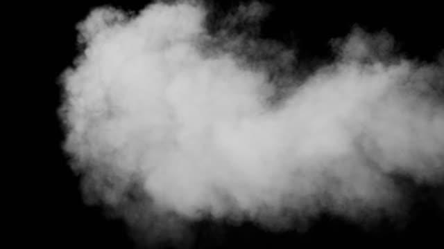 黒い背景に白い煙 - 透明点の映像素材/bロール