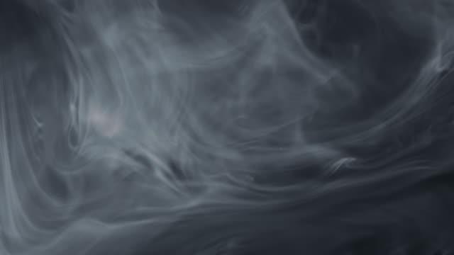 White Smoke on Black Background video