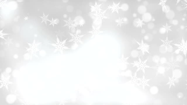 white snowflakes christmas background - snowflake background stock videos & royalty-free footage