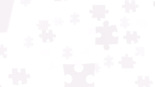 white space filled with puzzles. - puzzle video stock e b–roll