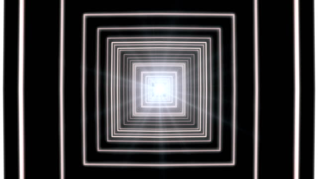 White Square Tunnel Loop video