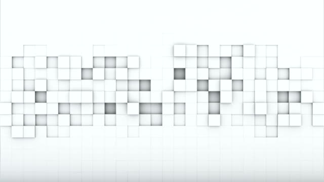 White squares 3D render loopable animation video