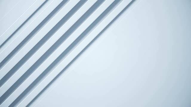 vídeos de stock e filmes b-roll de white technology 3d abstract background. minimal futuristic texture for business slideshow. simple geometric video pattern.seamless loop. - listrado