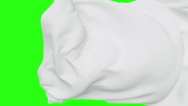 white textile flying away, isolated on green screen chroma key, wavy fashion background, unveiling, cloth falling, drapery ripples