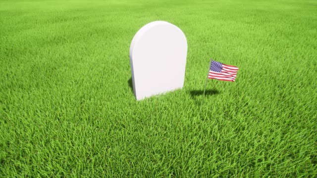 White Tombstone on grass. Day of Remembrance 4k White Tombstone on grass. Day of Remembrance 4k ghost icon stock videos & royalty-free footage