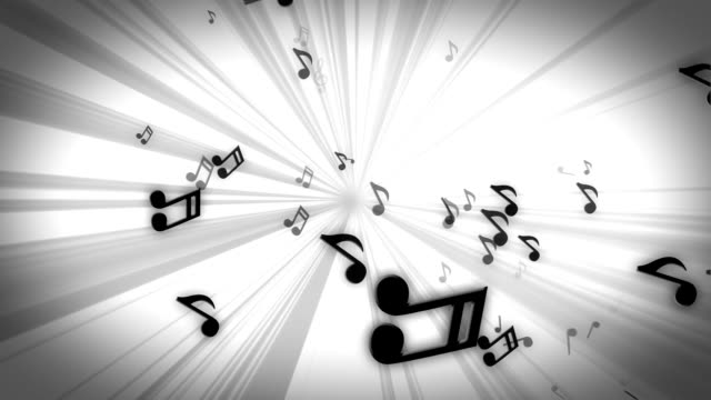 White Tunnel of Tunes. Loopable video